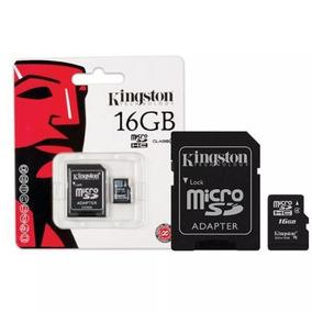 Kit 4, R$ 35,75 Cada Cartão Memória Kingston Microsd Sd 16gb