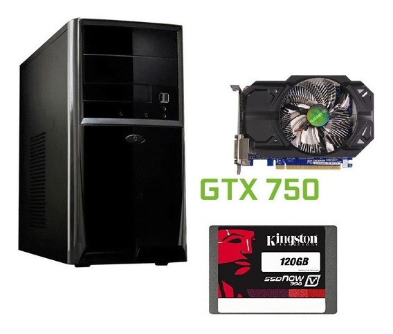 Pc Gamer Quad Q6700 Gtx 750 Ssd 120 Gb Kingston 1200