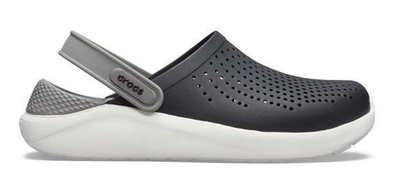 Sandalia Unisex Crocs Literide Clog Negro/gris Humo