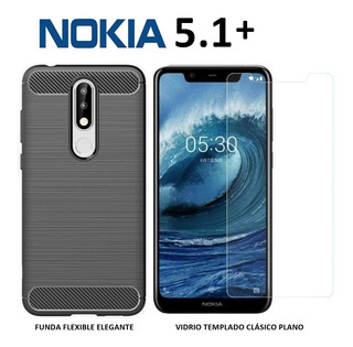 Funda Elegante + Templado Nokia 5.1 Plus 5.1+ Rosario