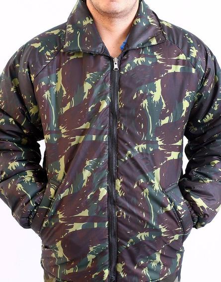 Jaqueta Malvenão - Blusão Dupla Face Camuflado Com Preto