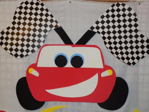Cartel Cars- Autos Grande Cumple Goma Eva. Villa Urquiza.