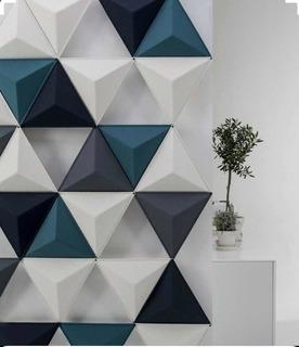 Molde De Silicona Yeso Pared 3d Piramide