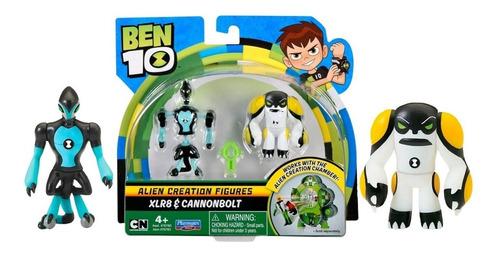 Ben 10 - 2 Bonecos De Criação Alien - Xlr8 E Bala De Canhão