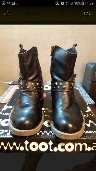 Botas Niña Toot Nro.35 Color Negro