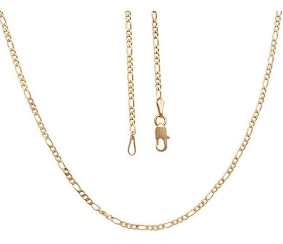 Corrente Masculino 3x1 Elo Diamantada 50cm Banhado Ouro 18k