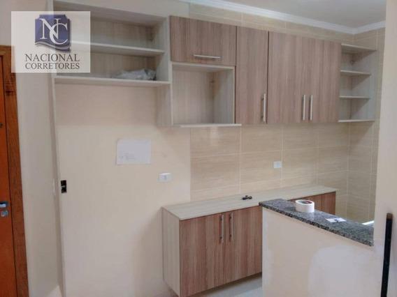 Apartamento Com 2 Dormitórios À Venda, 42 M² Por R$ 220.000,00 - Jardim Utinga - Santo André/sp - Ap9237