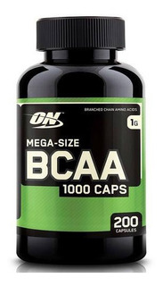 Bcaa 1000mg Optimum Nutrition 200 Capsulas Importado Eua