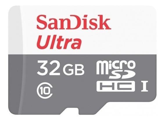 Cartão Micro Sd Sandisk 32gb De 80mbs C/ Embalagem Lacrada
