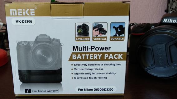 Battery Grip Meike Para Câmeras Nikon D3300/d5300