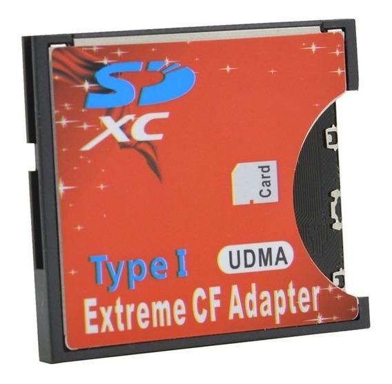 Adaptador Sd Cf Compact Flash Cf Para Sd Tipo 1 Câmeras Cf