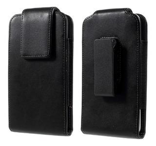 Capa Case Premium Couro C/ Clip De Cinto P/ iPhone X Xs