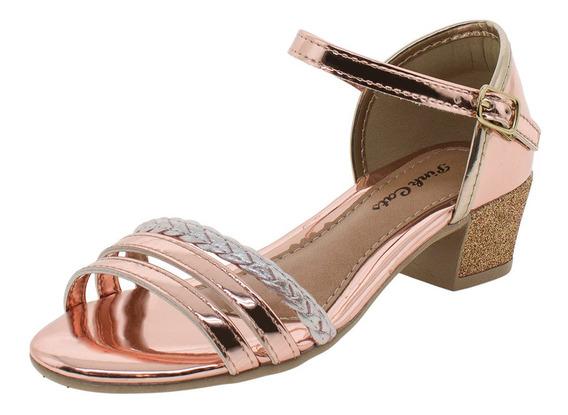 Sandália Infantil Feminina Pink Cats - V0791 Bronze