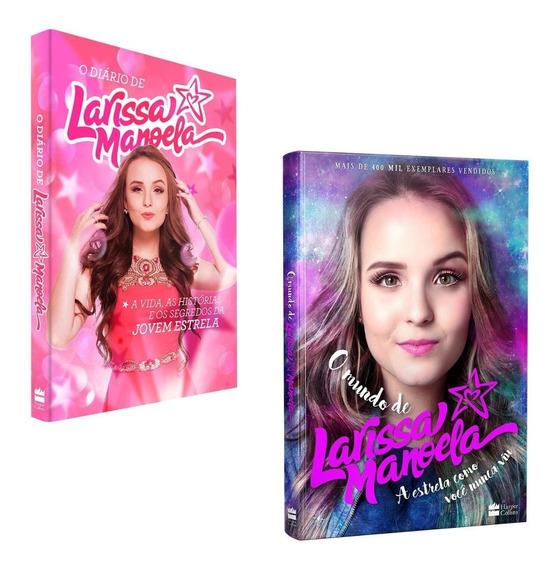 Kit Livros Diário Larissa Manoela + Mundo Larissa Manoela #