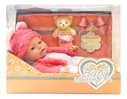 Imagen 1 de 8 de Bebote Bebe Real C/ Peluche Baby Lovely Nuevo 0842 Bigshop