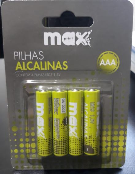 Pilha Palito Alcalinas Maxprint Aaa 1,5v 4 Unid 75636-2