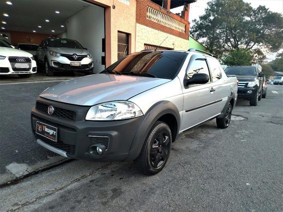 Strada 1.4 Working Cabine Dupla 2015 Completa Prata