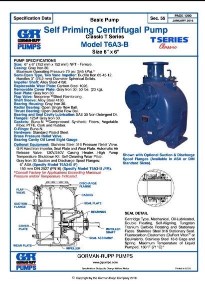 Moto Bomba Aguas Lodos Gran Caudal Motor 88 Hp
