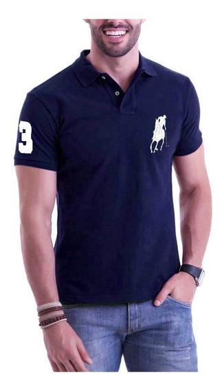 Kit C/ 6 Camisas Camisetas Atacado Gola Polo Masculina Marca