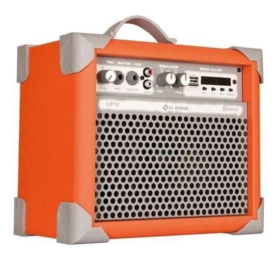 Caixa De Som Amplificada Multiuso Up!5 Orange Fm/bluetooth