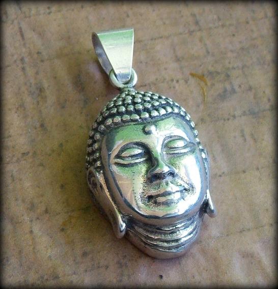 Pingente Buda Buddha Budismo - Bodhisattva K3 - Pura Prata