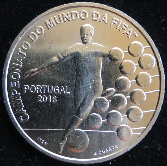 Portugal, 2,5 Euros, 2018. Mundial Futbol Rusia 2018. Unc