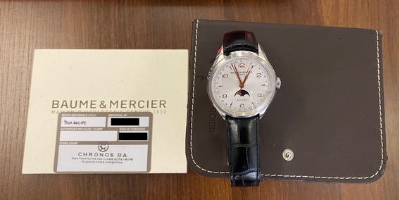Baume & Mercier Clifton Silver Dial Moonphase