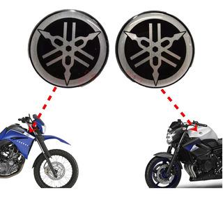 Adesivo Yamaha Emblema Brasão Xt660 R1 Fazer Alto Relevo Par