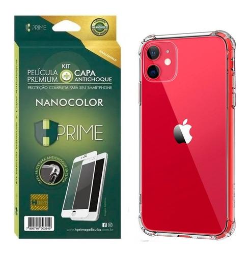 Imagem 1 de 4 de Kit Película Hprime Nanocolor + Capinha iPhone 11 6.1 Top
