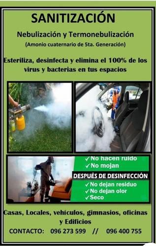 Zanitizacion En Seco. Desinfeccion Amonio Cuaternario.