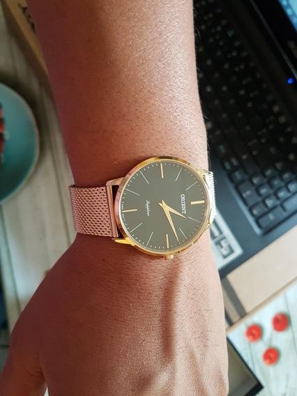 Relógio Orient Sapphire Slim.