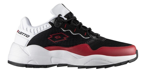 Tenis Lotto Thanus Negro/rojo 0h353016