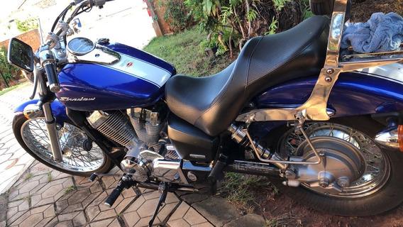 Honda Shadow Vt 750 Ano 2013, Toda Original, Azul E Branca