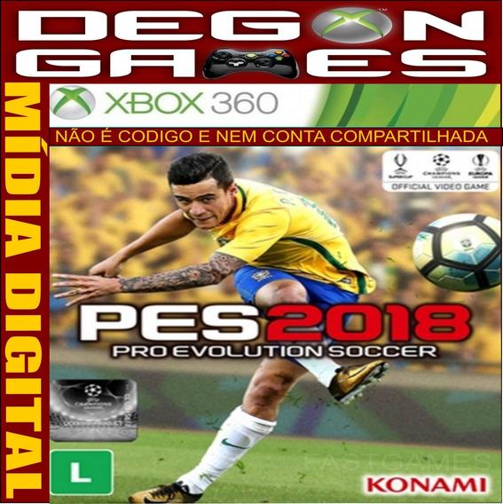 Pes 18 Xbox 360 Midia Digital - Licença Liberada