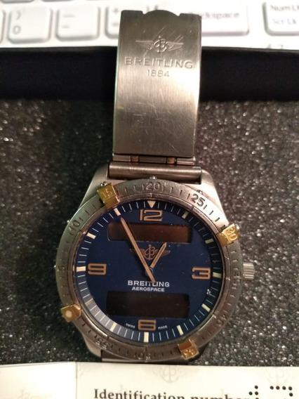 Relógio Breitling Aerospace Original Titanio + Pulseira