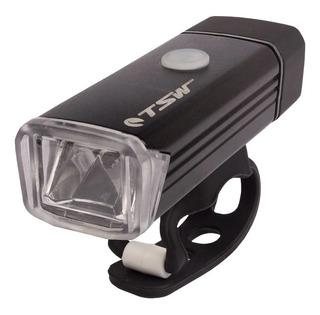 Farol Bike Tsw 180 Lumens Sinalizador Lanterna Led Preto
