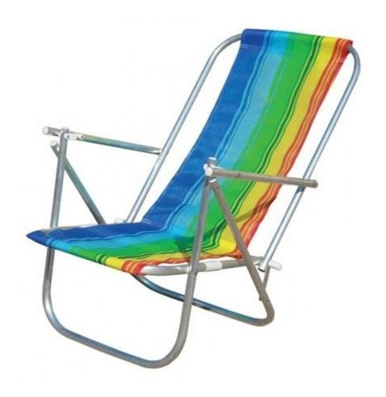 Cadeira De Praia Dobrável Alum 2posições Cad0041 Botafogo