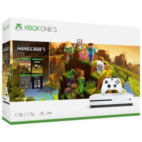 Xbox One S 1tb Minecraft Bundle Microsoft Blu-ray 4k Hdr