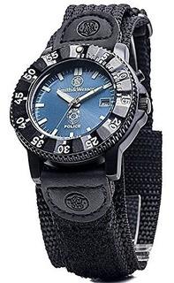 Smith Wesson Sww455p Reloj Policial Con Esfera Azul Y Correa