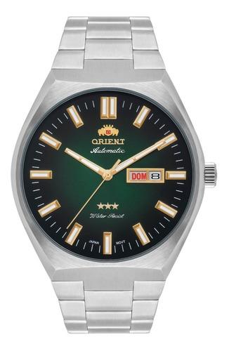 Relógio Orient Masculino Automático 469ss086 E1sx Verde Aço