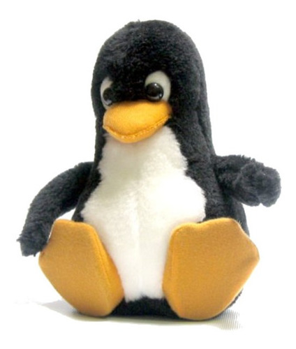 Imagen 1 de 3 de Pingüino De Linux  Tux  En Peluche De 20cm