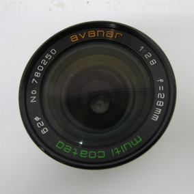 Lente Avanar Multi Coated 1:2.8 F=28mm Sem Riscos Ou Fungos
