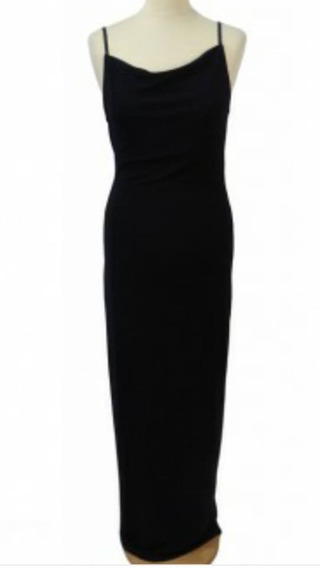 Vestido Largo Traído De Barcelona Terciopelo Negro