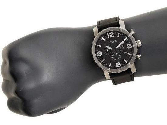 Promoção Black Week! Relógio Fossil Jr1436 Originalaço/couro