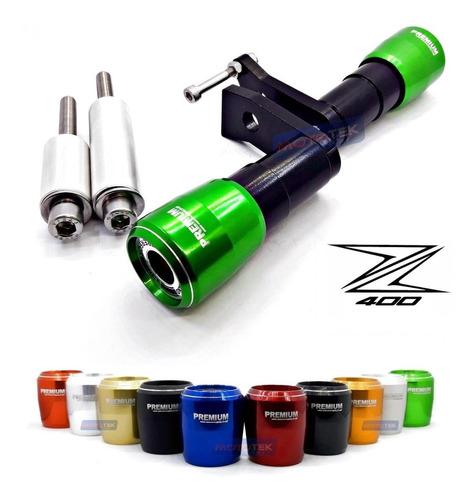 Imagem 1 de 7 de Slider Protetor Motor Premium Racing Kawasaki  Z400 Z 400