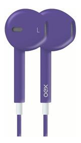 Fone De Ouvido Colormood Roxo Com Microfone Hands Free Oex