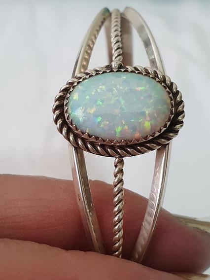 Bracelete Em Prata Com Opala