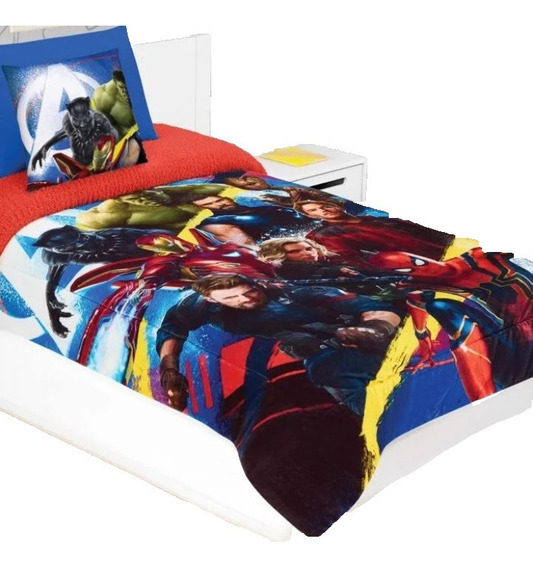 Cobertor Individual Providencia Avengers Infinity Con Borreg