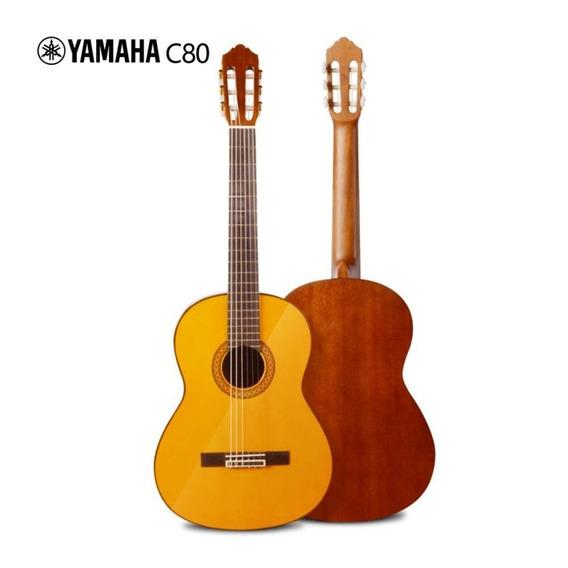Guitarra Clásica Yamaha C-80 Natural 39 4/4 C/forro/vite