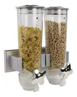 Dispensador Doble Para Cereal Café Pasta Y Alimentos Secos